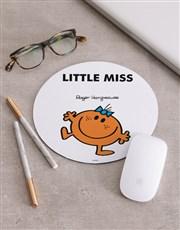 Personalised Little Miss Orange Mousepad