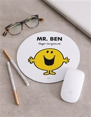 Personalised Mr Happy Mousepad