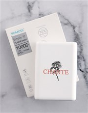 Personalised Flower Romoss Power Bank