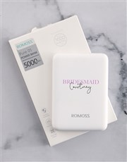 Personalised Bridesmaid Romoss Power Bank