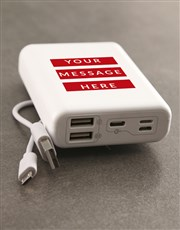 Personalised Red Message Romoss Power Bank