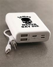 Personalised Never Die Romoss Power Bank
