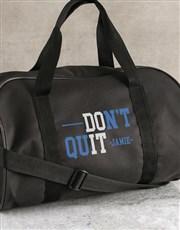 Personalised Do It Black Gym Bag