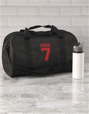 Personalised Team Player Black Sports Bag