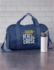 Personalised Rebel Navy Sports Bag