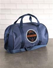 Personalised Navy Kit Bag