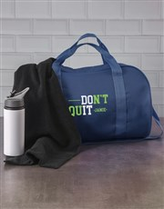 Personalised Do It Navy Gym Bag