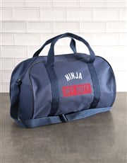 Personalised Off Duty Navy Sports Bag
