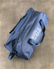 Personalised Body Like This Navy Sports Bag