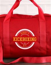 Personalised Red Kit Bag