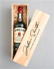 Personalised Jameson Signature Crate