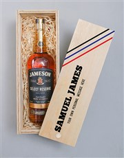 Personalised Jameson Whiskey Printed Crate