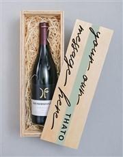 Personalised Diemersfontein Wooden Crate