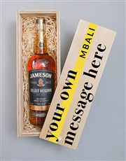 Personalised Jameson Wooden Crate