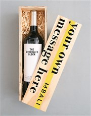 Personalised Diemersfontein Message Crate