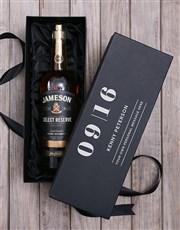 Personalised Jameson Irish Whiskey Giftbox
