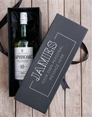 Personalised Laphroaig Wine Giftbox