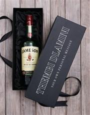 Personalised Jameson Irish Whiskey Wine Giftbox