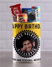 Personalised Birthday Photo Bro Bucket Hamper
