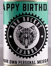 Personalised Birthday Bro Bucket Hamper