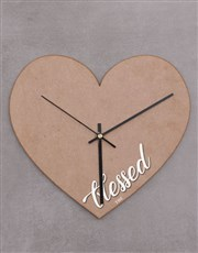 Personalised Blessed Heart Shaped Clock