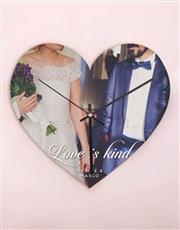 Personalised Love is Kind Heart Clock