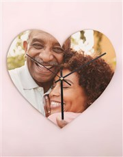 Personalised Photo Memory Heart Clock