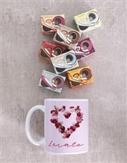 Personalised Rosy Love Mug