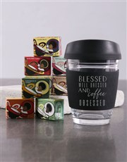 Personalised Blessed and Well Dressed Travel Mug