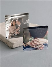 Personalised Together Forever Acrylic Photo Blocks