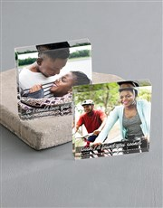 Personalised Love You Longer Acrylic Blocks