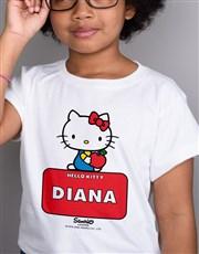 Personalised Hello Kitty Kids T Shirt