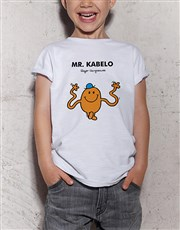Personalised Mr Tickle Kids T Shirt
