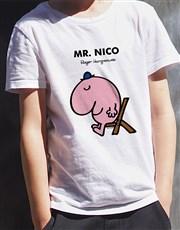 Personalised Mr Lazy Kids T Shirt