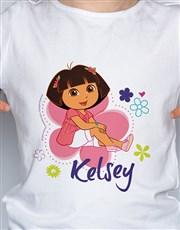 Personalised Dora Kids T Shirt