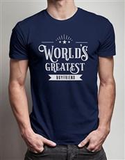 Personalised Worlds Greatest Boyfriend Navy Tshirt