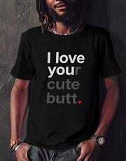 Personalised Love You Black Tshirt