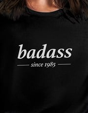 Personalised Badass Ladies T Shirt
