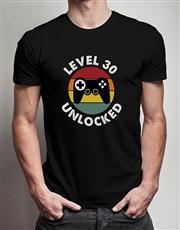 Personalised Level Unlocked T Shirt