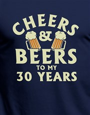 Personalised Cheers and Beers T Shirt