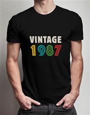 Personalised Vintage Year T Shirt