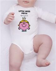 Personalised Little Miss Princess Onesie