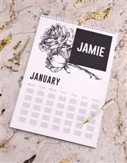 Personalised Botanical Wall Calendar