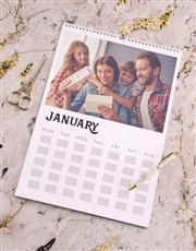 Personalised Green Family Wall Calendar