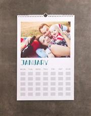 Personalised Flower Sketch Wall Calendar