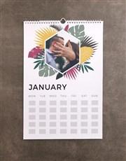 Personalised Tropical Wall Calendar