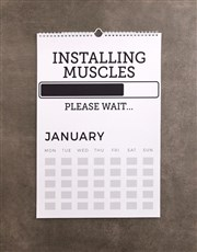 Personalised Sporty Wall Calendar