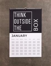 Personalised Inspirational Wall Calendar