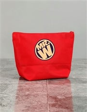 Personalised Mens Mister Red Wash Bag