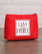 Personalised Fierce Red Cosmetic Bag